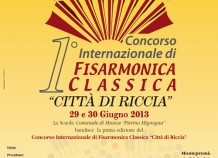 1 Concorso Internazionale di Fisarmonica Classica Citt di Riccia